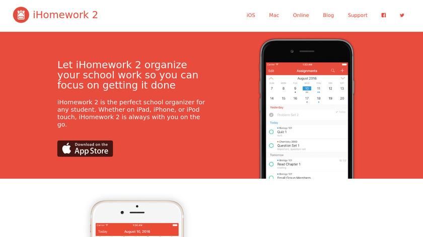iHomework 2 Landing Page