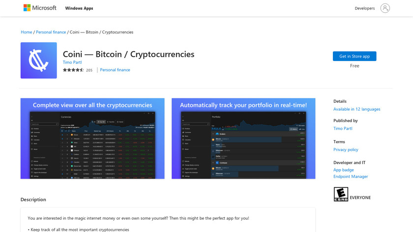 Coini Landing Page