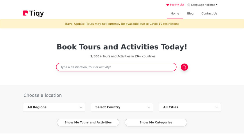 Tiqy Landing Page