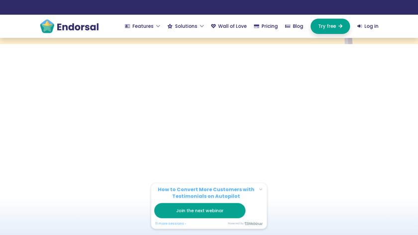 Endorsal Landing Page