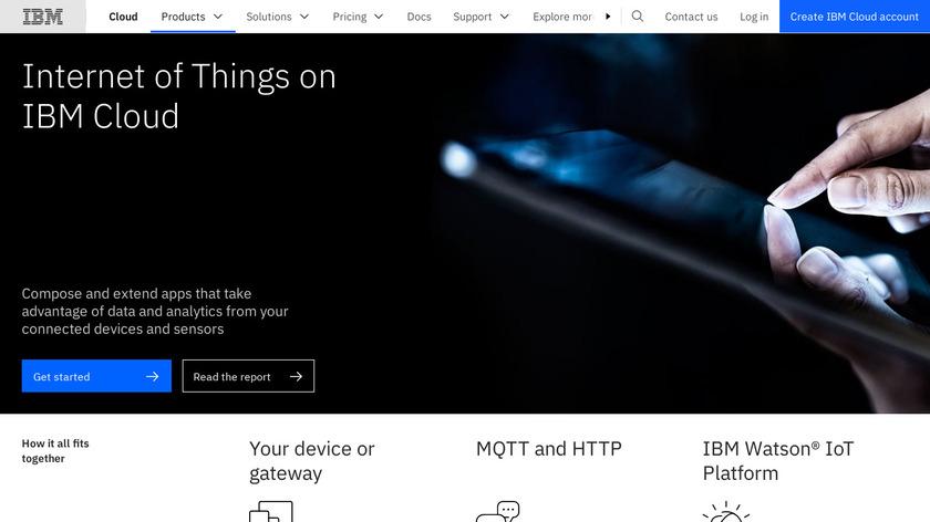 IBM Watson IoT Platform Landing Page