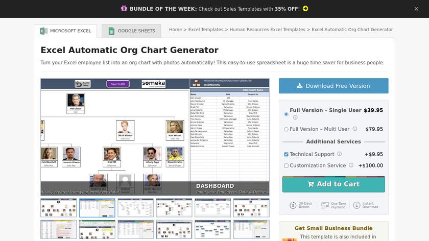 Automatic Organizational Chart Generator Landing Page