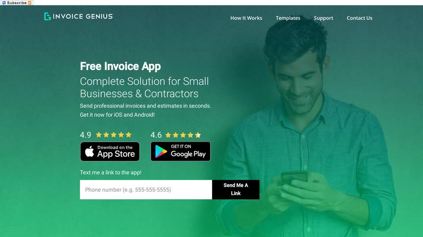Invoice Genius Landing Page