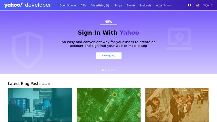 Yahoo App Publishing Landing Page