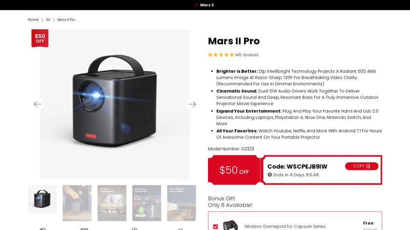Mars Landing Page