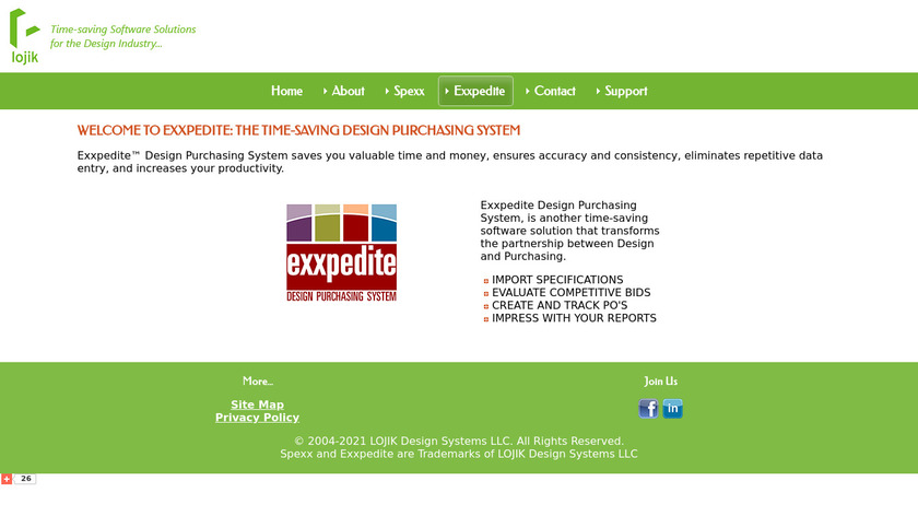 Exxpedite Landing Page