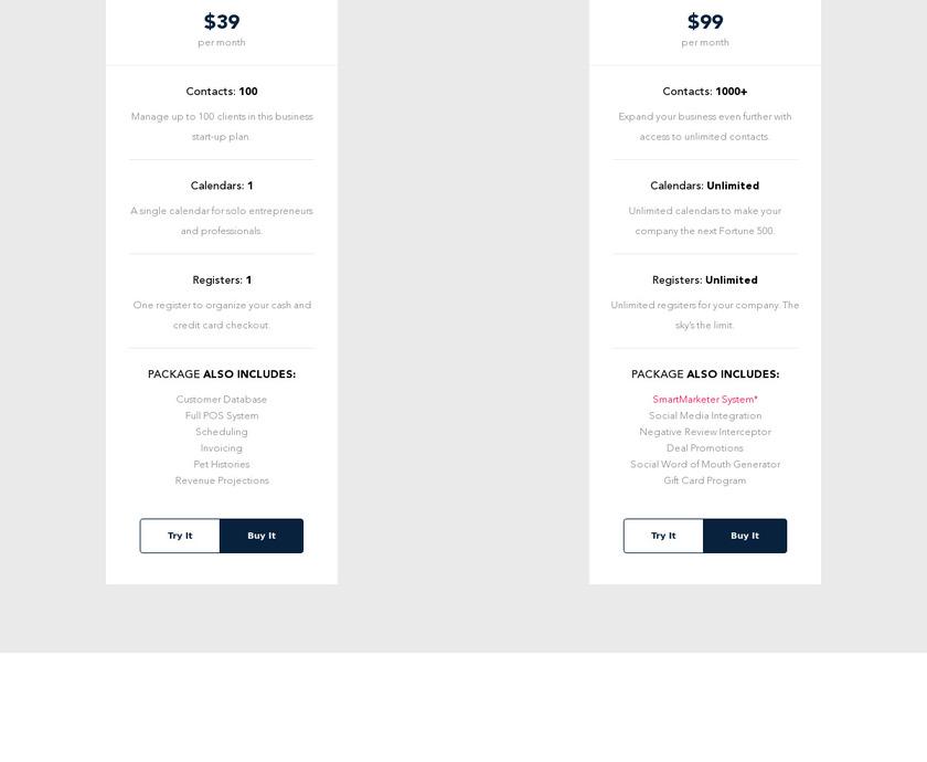 GroomProPOS Pricing