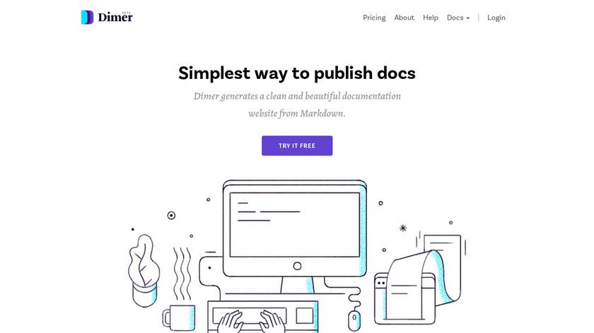 Dimer Beta Landing Page