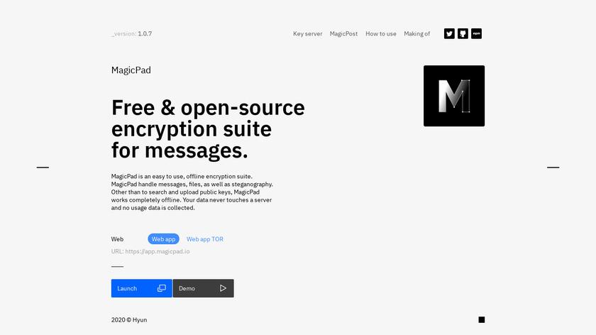 MagicPad Landing Page