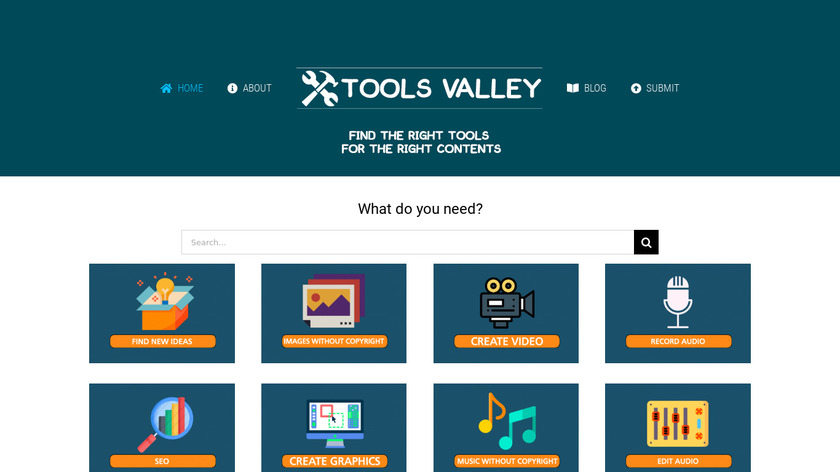 Tools Valley Landing Page