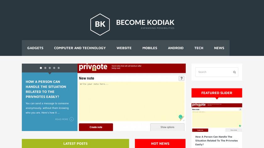 Kodiak PHP Landing Page