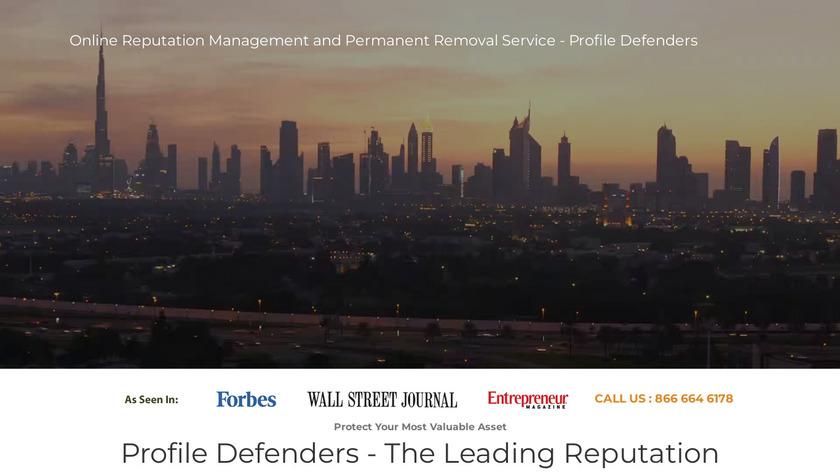 Profile Defenders Landing Page