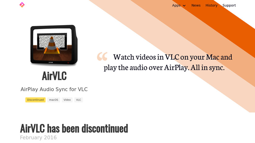AirVLC Landing Page