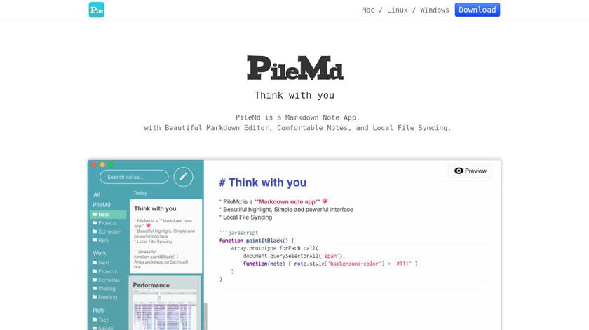 PileMD Landing Page