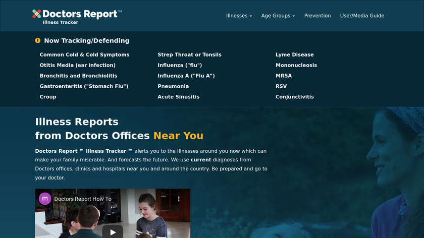 Doctors Report Landing Page