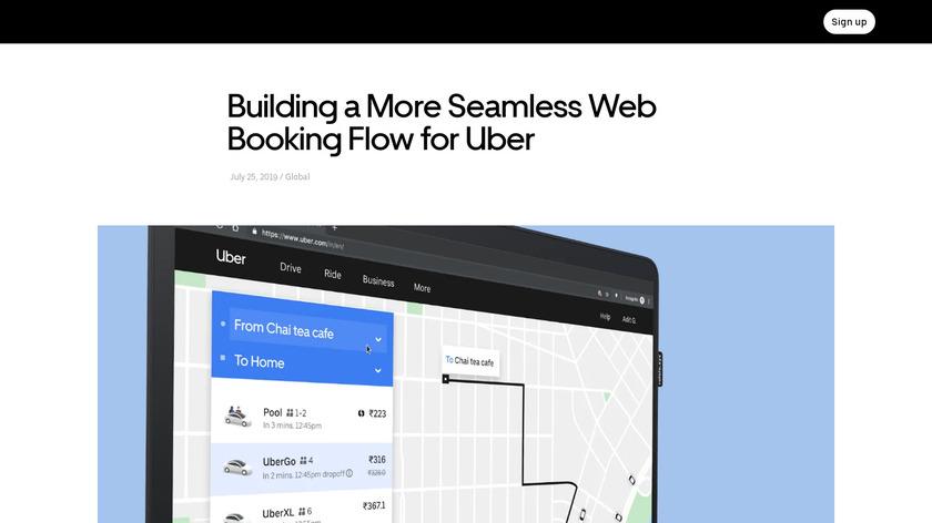 Uber Web Landing Page
