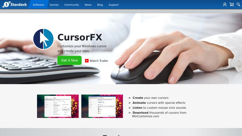 CursorFX Landing Page