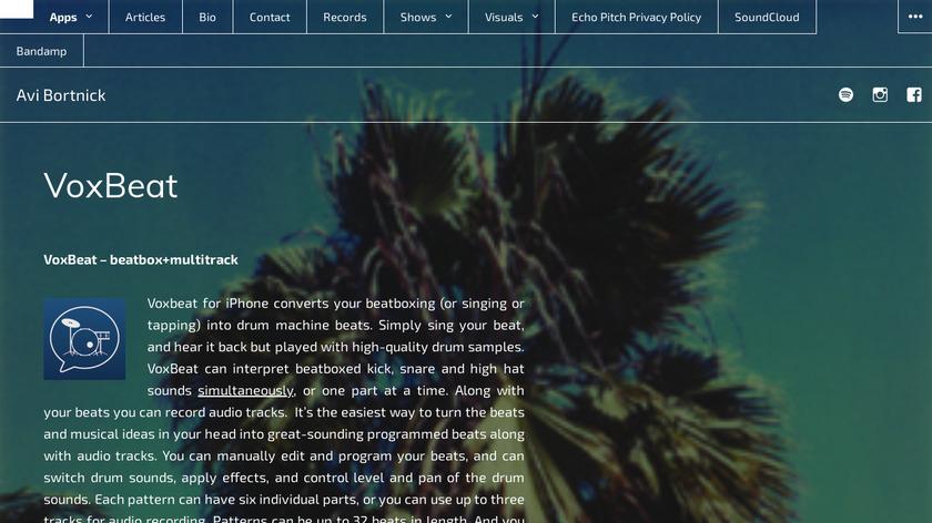 VoxBeat Landing Page