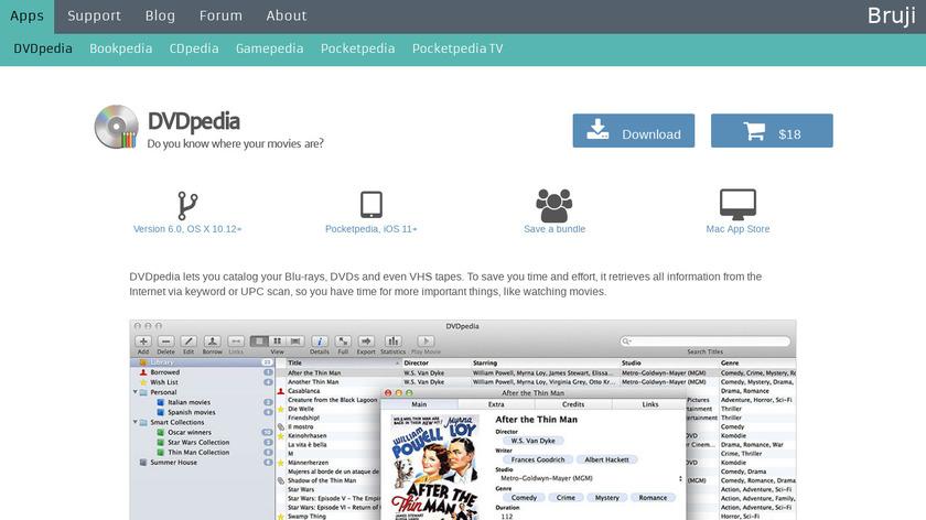 DVDPedia Landing Page