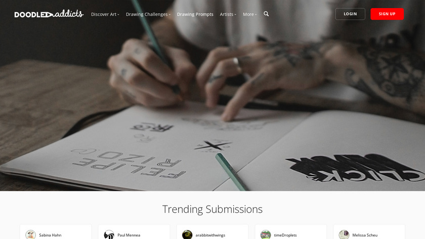 Doodle Addicts Landing Page