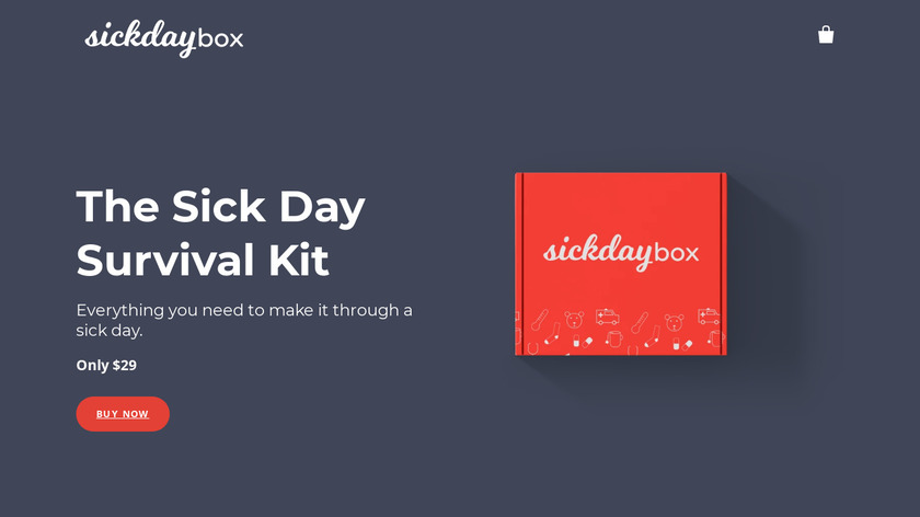 Sick Day Box Landing Page