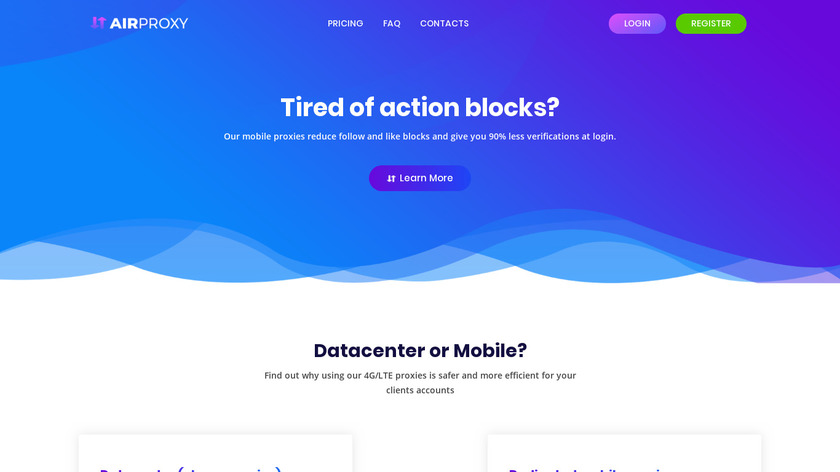 AirProxy Landing Page