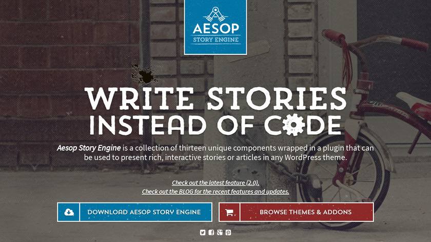 AESOP Story Engine Landing Page
