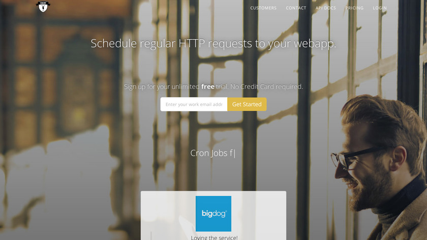 Cron As A Service Landing Page