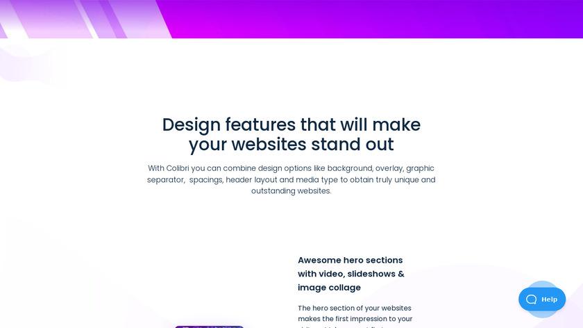 Colibri WP Landing Page