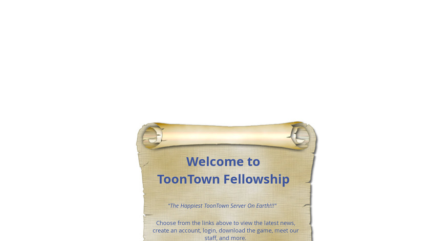 Toontown Fellowship Landing Page