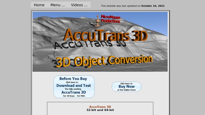 AccuTrans 3d Landing Page