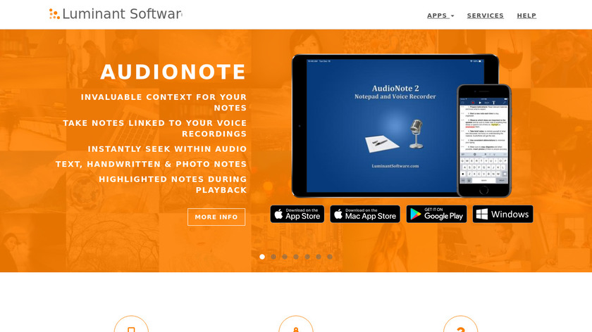 AudioNote Landing Page