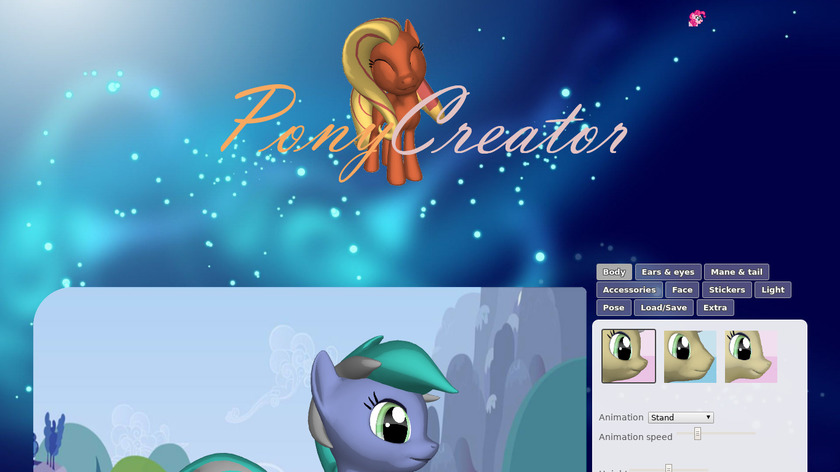 Pony Creator by Pony Lumen Landing Page