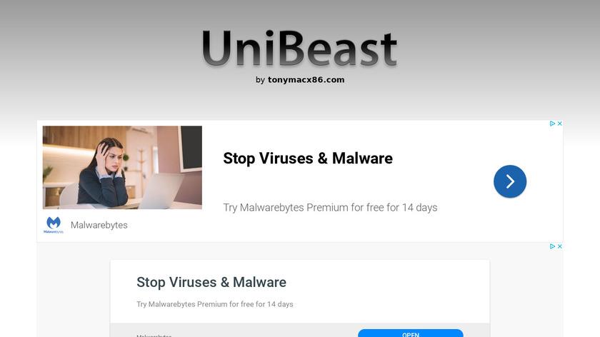 UniBeast Landing Page
