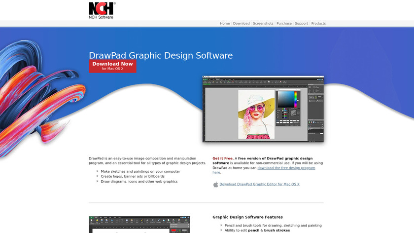 DrawPad Landing Page