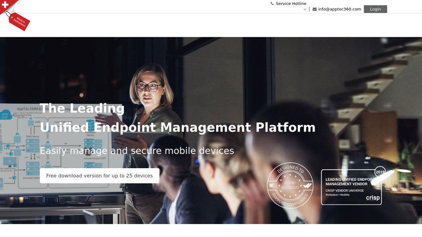 AppTec 360 Landing Page