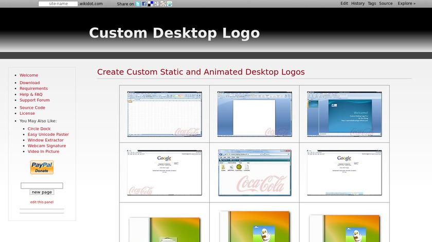 Custom Desktop Logo Landing Page