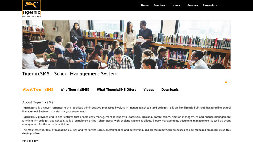 TigernixSMS Landing Page
