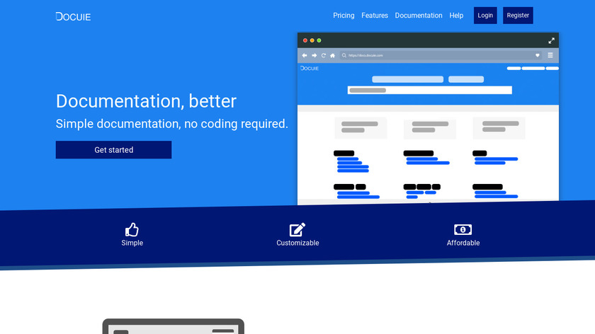 Docuie Landing Page