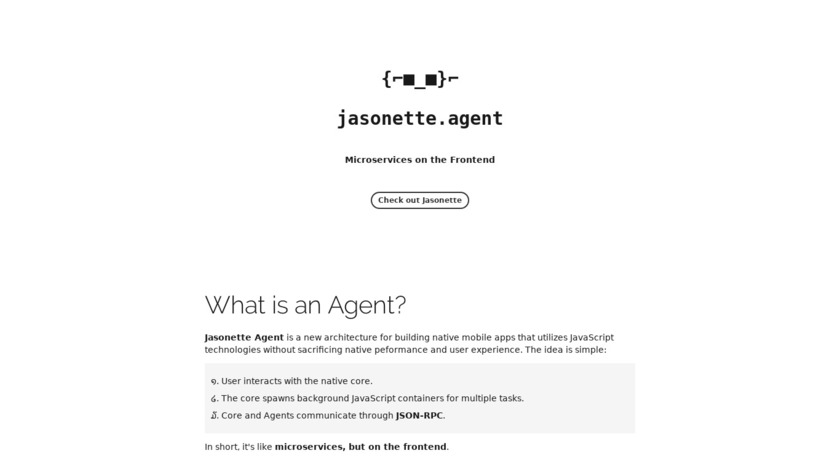 Jasonette Agent Landing Page