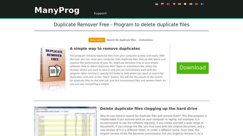 Duplicate Remover Free Landing Page