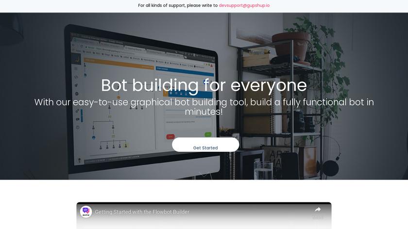 Gupshup Flow Bot Builder Landing Page