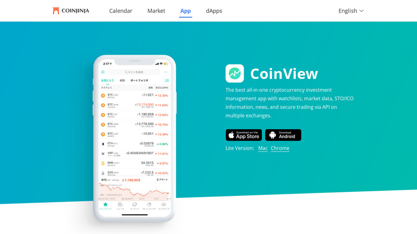 CoinView Landing Page