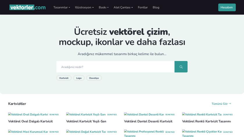 Vektorler.com Landing Page