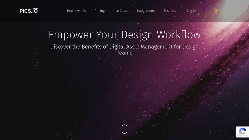 Pics.io Design Landing Page
