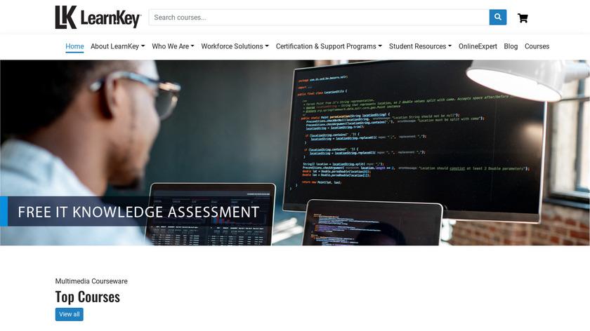 LearnKey Landing Page