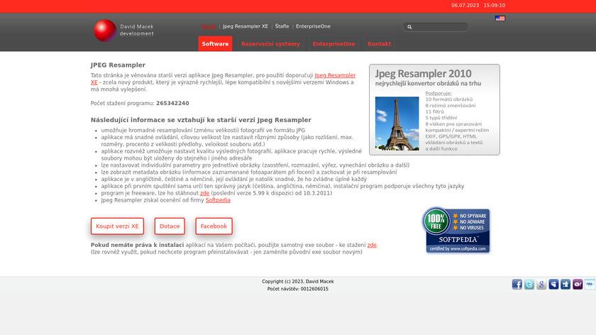 JPEG Resampler Landing Page