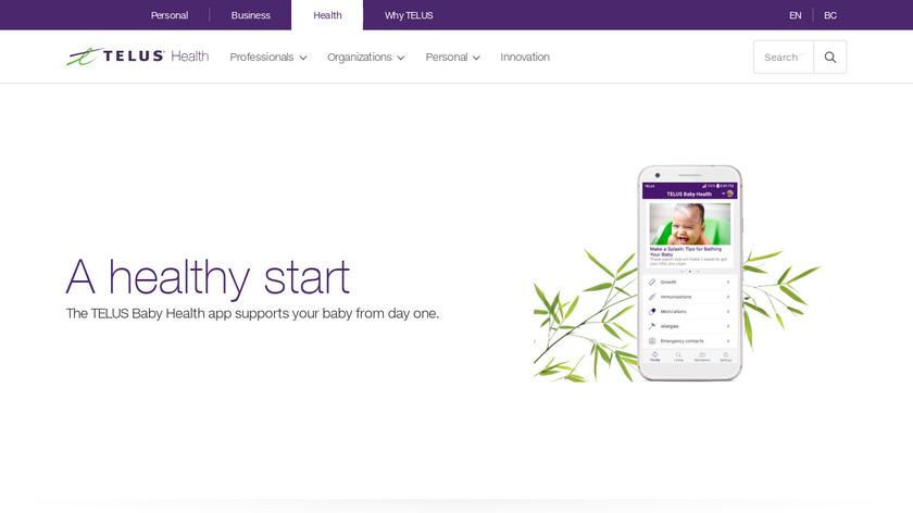 TELUS Baby Health App (Canada) Landing Page
