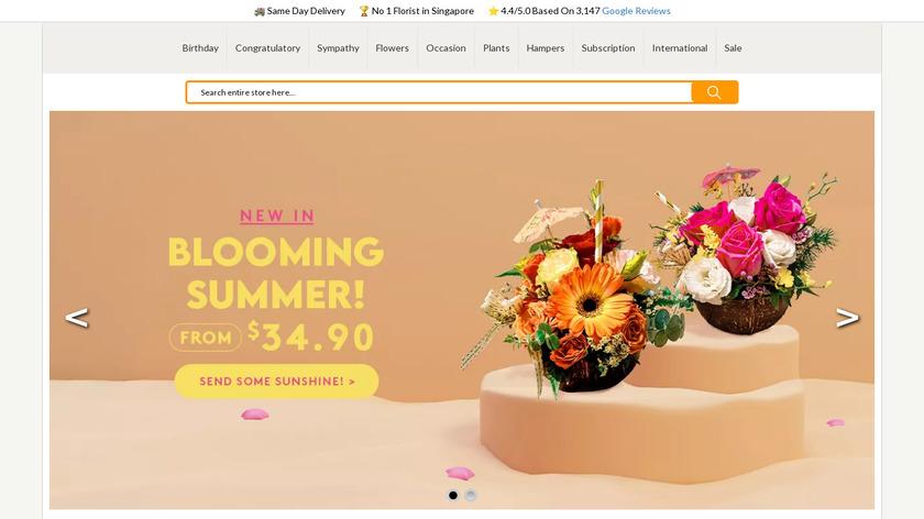 FarEastFlora.com Landing Page