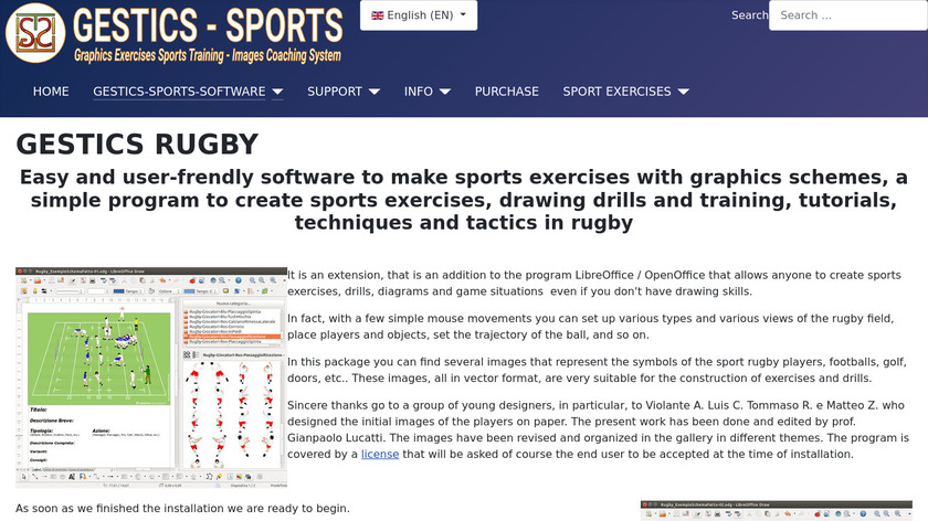 GESTICS RUGBY Landing Page